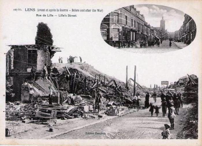 95-lens-rue-de-lille-avant-et-apres-la-guerre-1914-1918