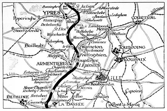 Armenteieres Map