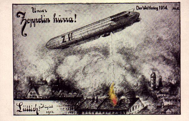 German Zeppelin attack in 1914