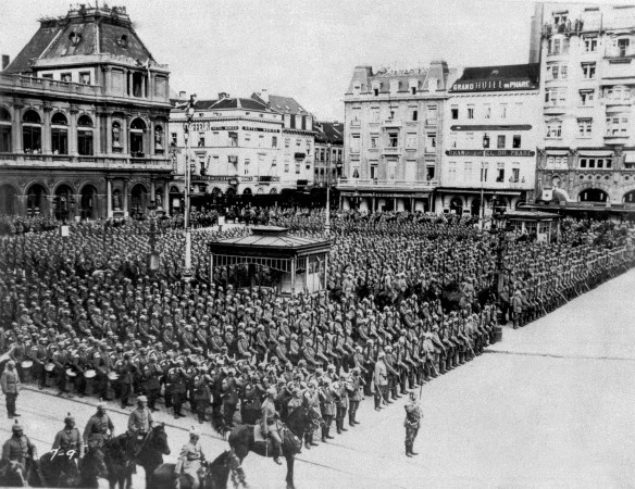 The big parade in occupied Belgian