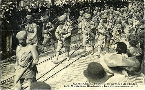 WWI Sikhs Bagpipes