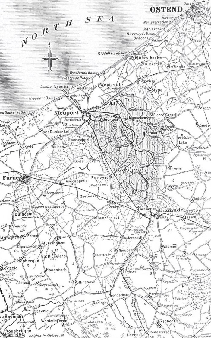 Yser_inundations_and_western_approaches_to_Houthoulst_Forest,_1914