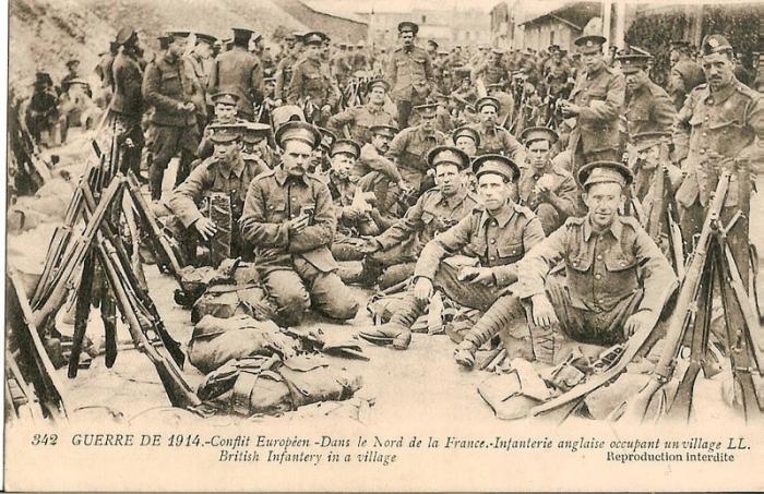british infantry in Hazebrouck