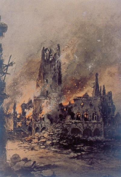 german bombardment of Arras