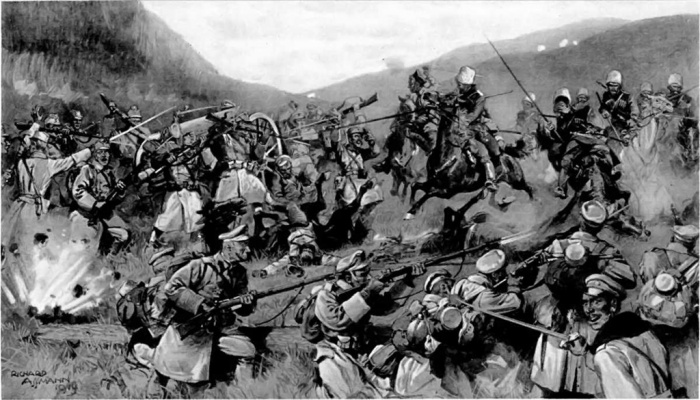An_engagement_in_Hungary_between_an_Austro-Hungarian_force_and_Russian_cavalry