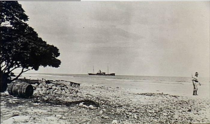 Fanning Island. 7 September 1914