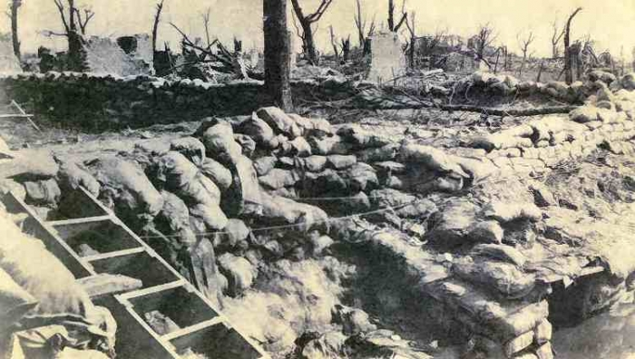 Trenches in the village