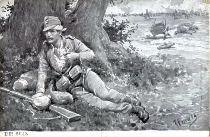 zraneny rakousky vojak