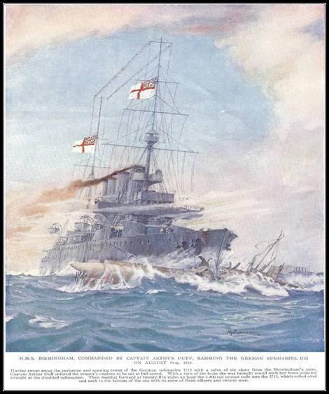HMS Birmingham vs U15
