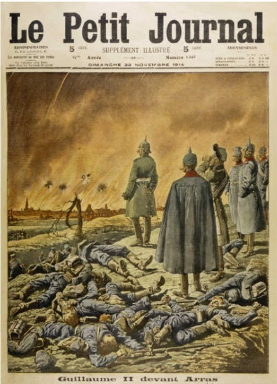 Kaiser Wilhelm II Watches as the German Attack on Arras