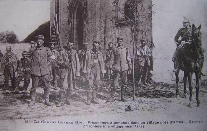 Prisonniers allemands près d'Arras