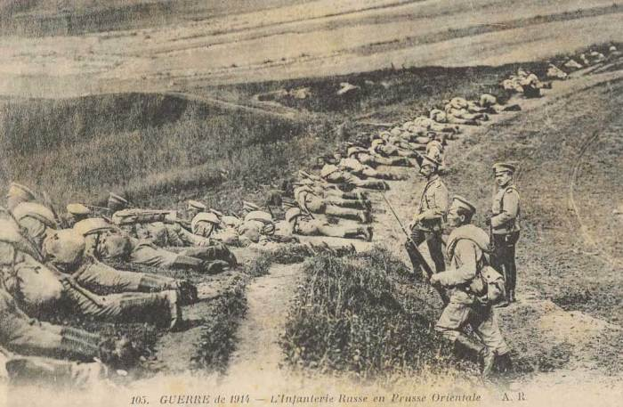 russian army attacking in East Prussia