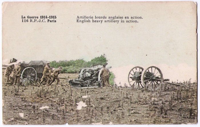 English-heavy-artillery-in-action-War-of-1914-1915