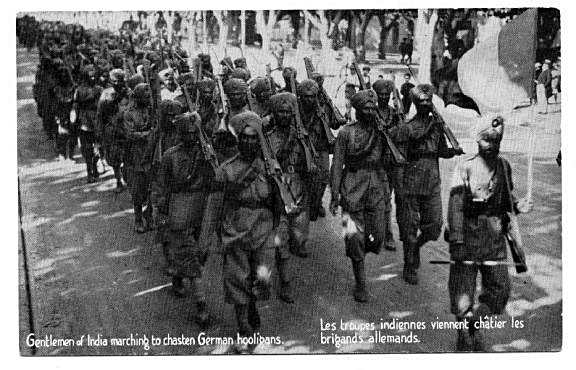 French-postcard-Sept-1914-arrival-of-Sikh-troops-15th-Sikh-regiment
