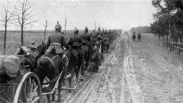 German troops near Warsaw
