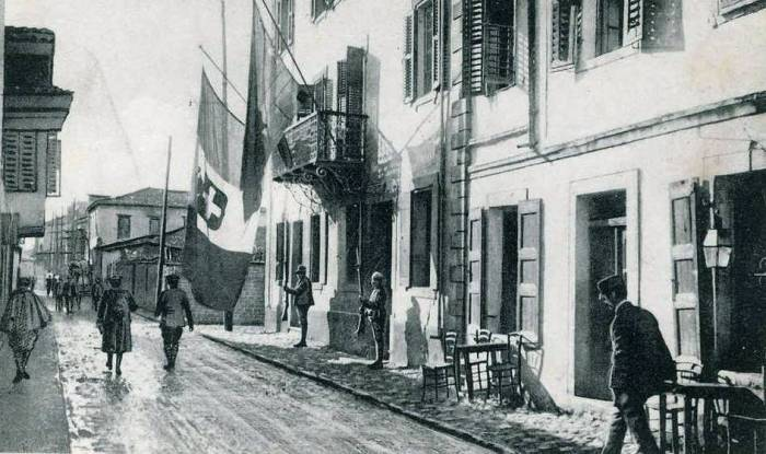 Italian soldiers in Vlorë, Albania during World War I