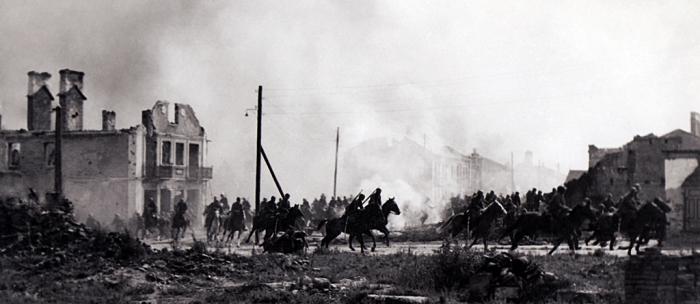Polish cavalry in Rawk Bzura
