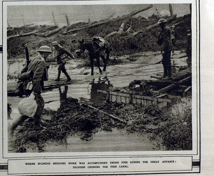 Soldiers Crossing the Yser Canal