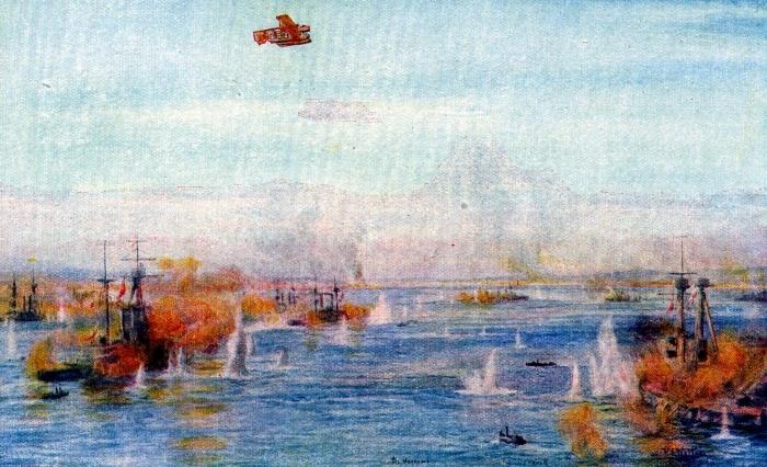 1-Wyllie-Bombarding-the-Narrows-18th-March-1915zzz