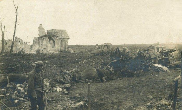 68-batterie-allemande-detruite-noyon-argonne-1915