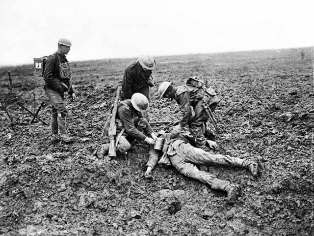 messines 1915 wounded german soldier