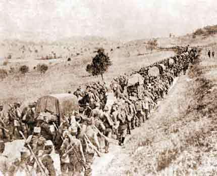 serb army retreat 1915