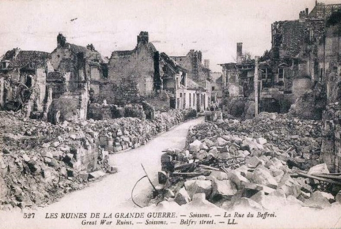 A postcard photo of the devastation in Soissons.jpg