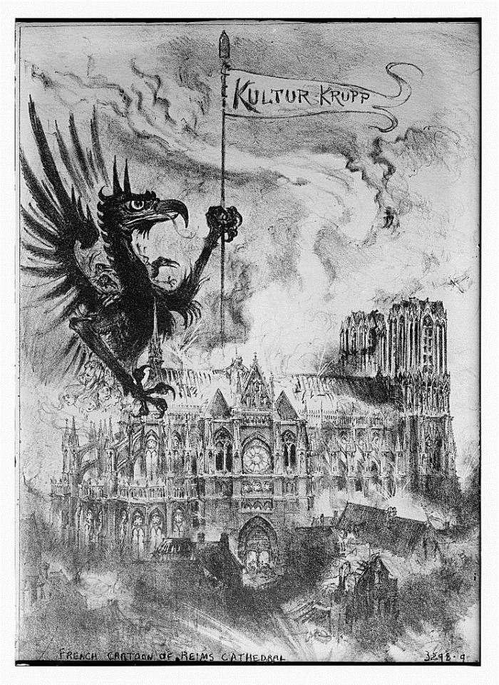 Reims Cathedral now in ruins.jpg