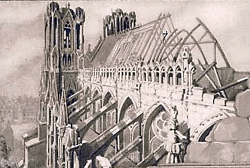 Reims cathedral, after German bombing.png
