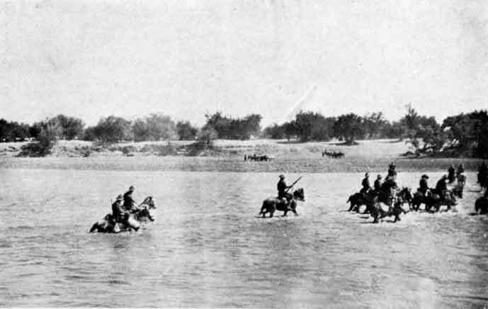 South African Mounted troops crossing one of the few rivers in GSWA.jpg