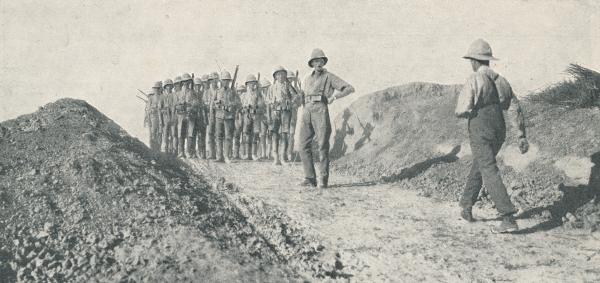 British Troops in Mesopotamia Advancing on Kut al Amara