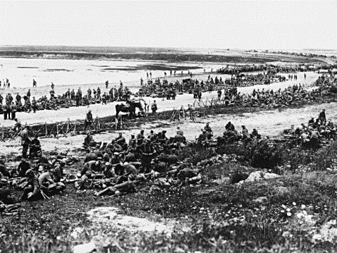 German Infantry at River Vistula