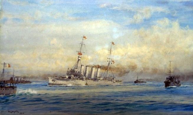 hms-dublin-torpedoed-in-th-adriatic-1915-L