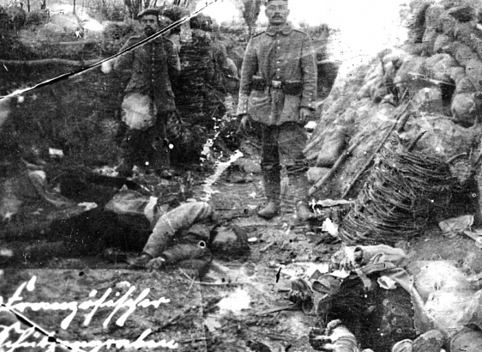 German soldiers stand in captured trenches at Ypres.jpg
