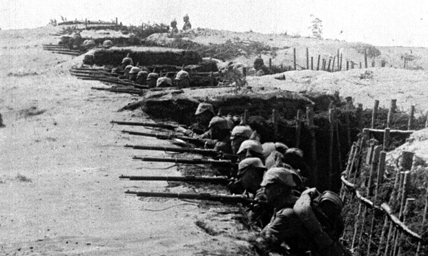 German troops in their trenches on Eastern Front in Poland 1915.jpg