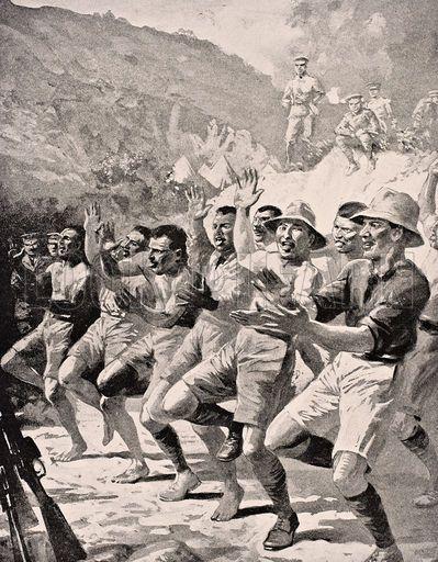 Maori soldiers perform a Haka at Gaba Tepe on the Gallipoli.jpg