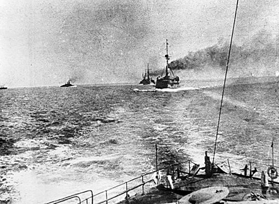1915. Ships of Russia's Black Sea Fleet ready for battle