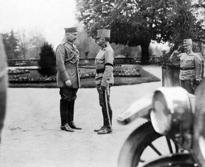 Field Marshall Conrad von Hötzendorf meets the German Kaiser