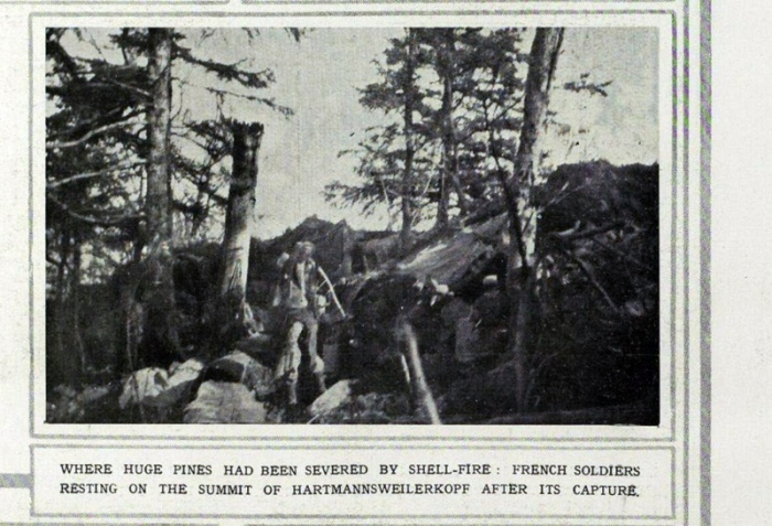 French Soldiers Resting on the Summit of Hartmannsweilerkopf