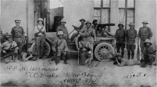UDF machine gun section in German South West Africa