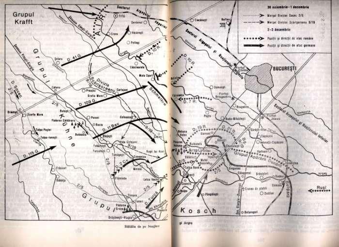 Bucharest front map Nov 1916