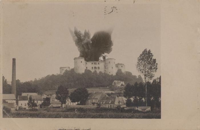20.3.a Explosion du donjon de Coucy le Château