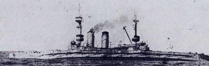 9.1.bb HMS_Cornwallis_(1901)_sinking_9_January_1917