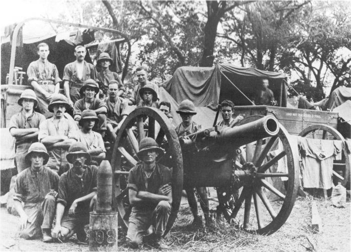 BL_5_4_inch_Howitzer_and_Crew_East_Africa_WWI
