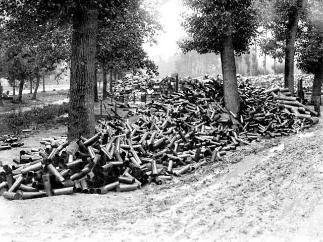 Somme empty shells