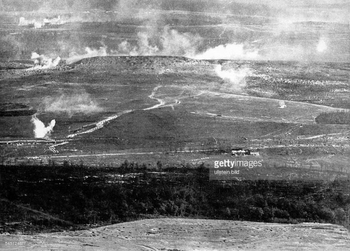 Verdun artillery bombardment