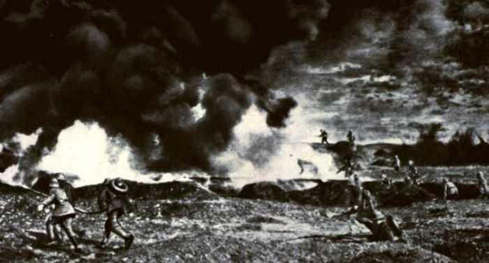 Verdun flamethrower attack