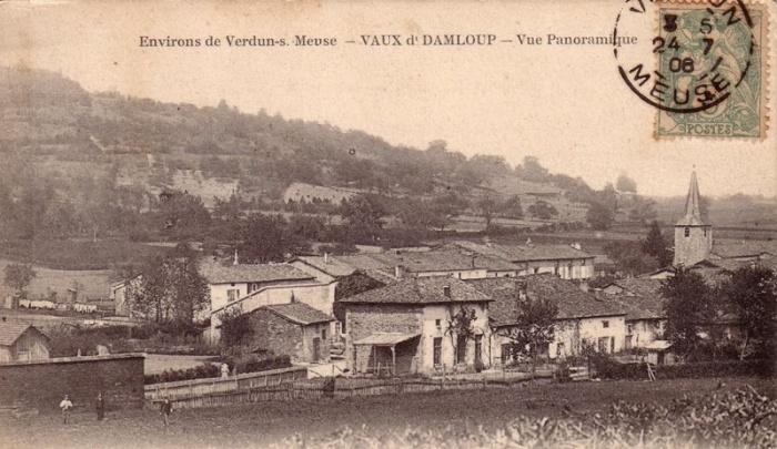 011aa Damloup 1916 village