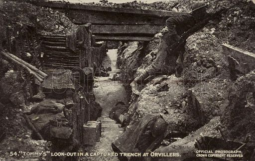 18a British look-out in a captured trench at Ovillers-la-Boisselle