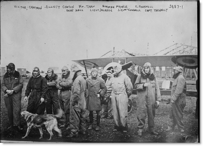 21.3. Lafayette_Escadrille_pilots_with_a_Nieuport_16_March1916